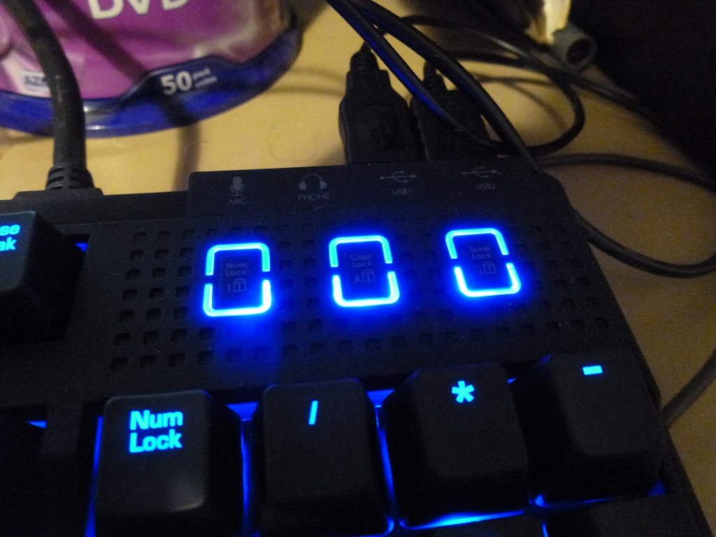 BLue LEDs on my keyboard